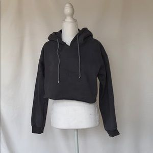 Princess Polly Cropped grey hoodie